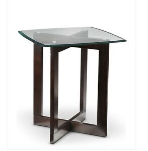 End coffee table glass top