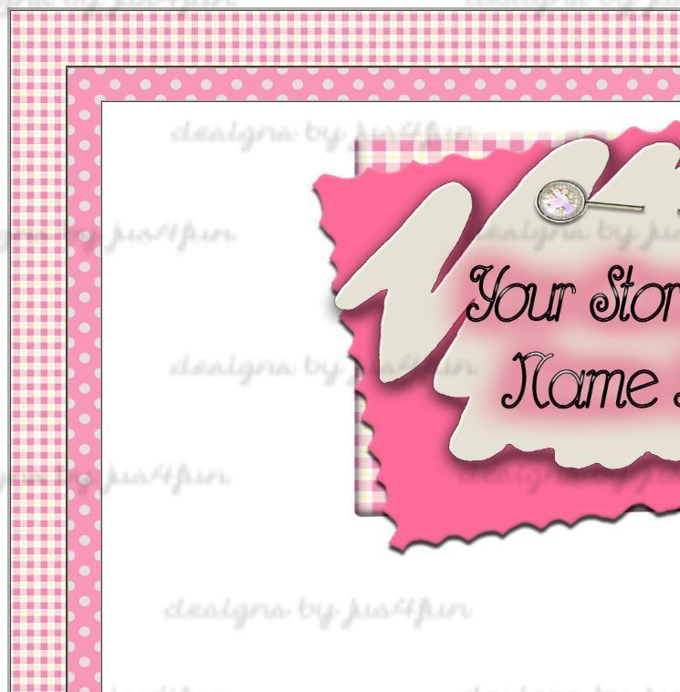 Pink Plaid Polka Dot eBay Auction Template Listing Template