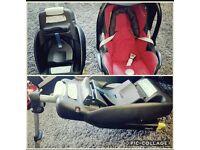 Maxi cosi baby seat and isofix base