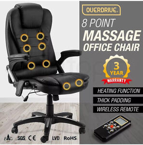8 point massage executive office chair leather chair Helensvale Gold Coast North Preview