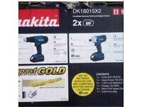 Makita DK18015x2 18v brand new in box combi and impact drill