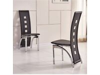 A pair of brand new high quality dining chairs (two extra high back rest)