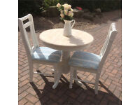 Solid pine shabby chic table