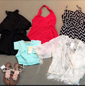3 x Playsuits, Crop, Lace Kimono and Flats Osborne Park Stirling Area Preview