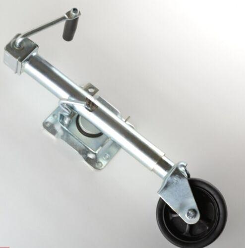 Trailer Tounge Jack with Wheel 1000lb Capacity Swivel Bolt On Tongue Boat Level
