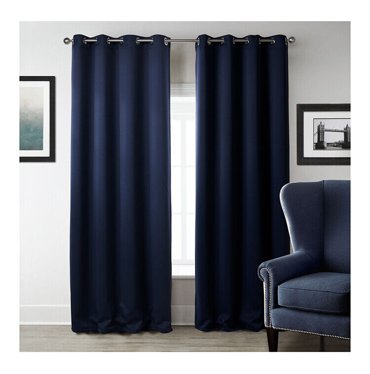 curtains - HOTEL QUALITY THERMAL BLACKOUT CURTAINS EYELET READY MADE RING TOP CURTAIN PAIR