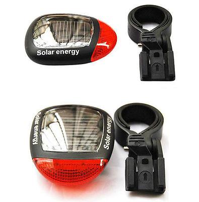 2019 new 2LED Solar Power Bike MTB Rear Tail Red LED Light Lamp Taillight (Best Mountain Bike Lights 2019)