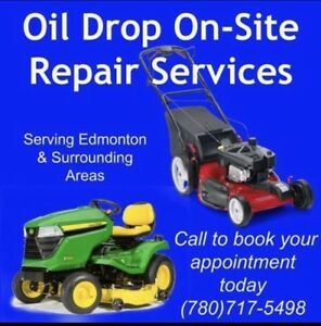 Lawnmower tune ups and repairs done at your home.