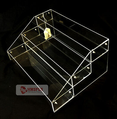 """16"""" Wide Acrylic Multi Purpose 3 Tier Counter Top Display Rack(1133-1ACLE) - NEW"""