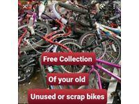Wanting free old scrap bicycles