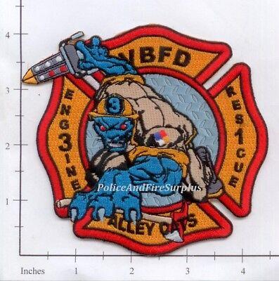 Virginia - Virginia Beach Engine 3  Rescue 1 VA Fire Dept Patch - Alley Cats