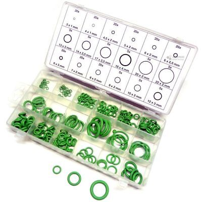HNBR O-Ring-Sortiment Grün 3-22 mm Ø, 225-tlg. Dichtring-Set R134a