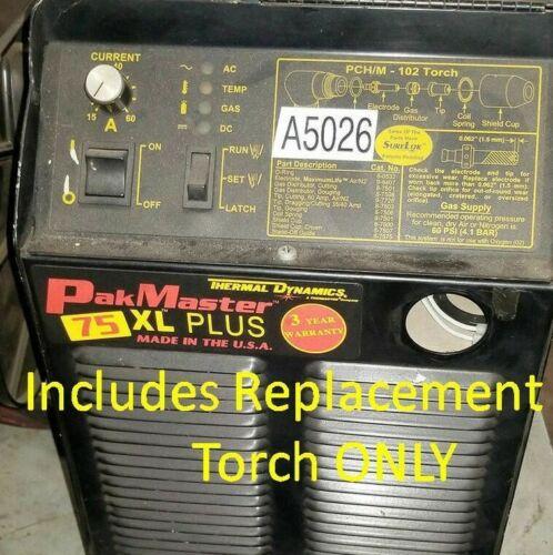Fix Repair Replace Retrofit Plasma Torch Thermal Dynamics PakMaster 50 75 100 XL
