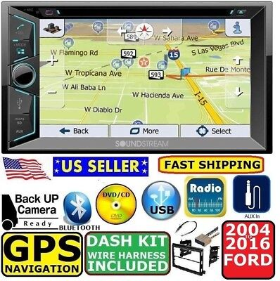 Used, 04-16 FORD F150 250 350 450 550 NAVIGATION CD DVD USB AUX BLUETOOTH Radio Stereo for sale  Bradenton