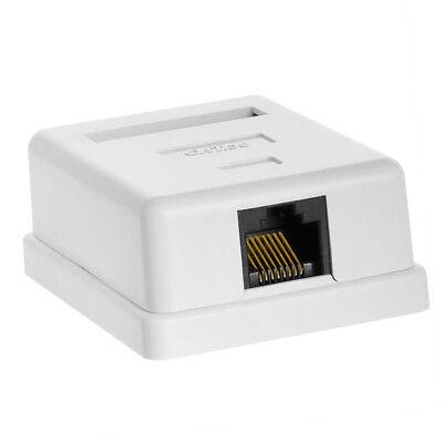 1-Port (Single Port) Cat5e RJ45 UTP Ethernet Surface Mount Box w/ Keystone Jack  1 Port Cat5e Surface Jack