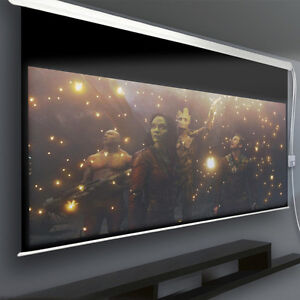 "NEW 150"" & 120"" Motorized HD Movie Projector Screen Projection"