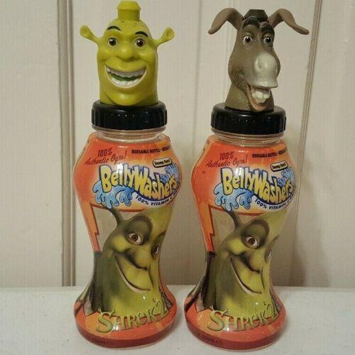 2004 Shrek & Donkey (Set of 2)  BELLYWASHERS BOTTLE/TOPPER In-Zone pre good2grow
