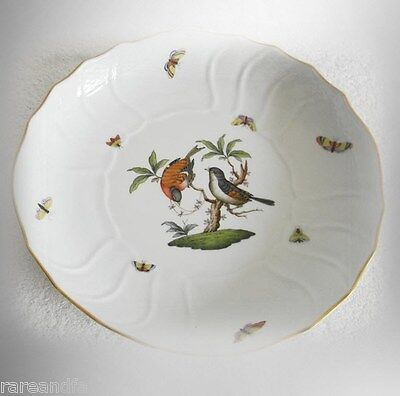 Herend Rothschild bird design large salad bowl - FREE SHIPPING