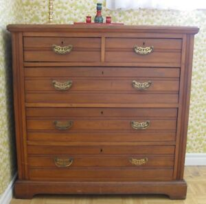 Antique Captain's chest of drawers