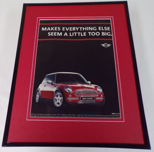 2003 Mini Cooper Framed 11x14 ORIGINAL Vintage Advertisement