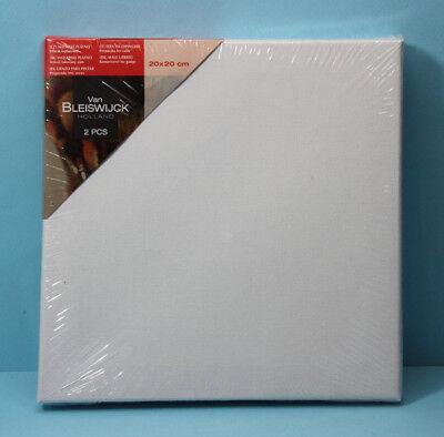 2 Stück Leinwand auf Keilrahmen / 20x20 cm / Malerleinwand