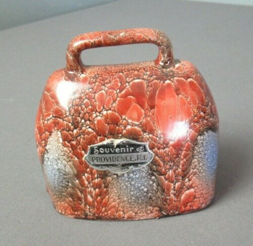 Vintage Souvenir of Providence RI Bell w/ Clapper - Pottery - Czechslovakia d mm