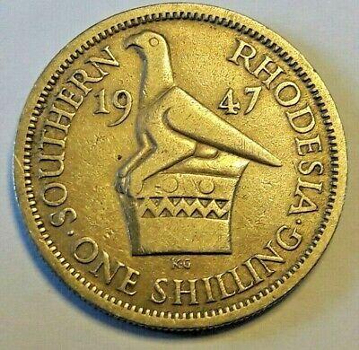 Southern Rhodesia 1 Shilling 1947 KM#18b George VI King Emperor (5301)