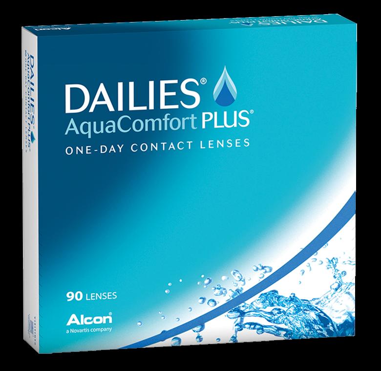Dailies AquaComfort Plus 90er Box - Tageslinsen - weiche Kontaktlinsen