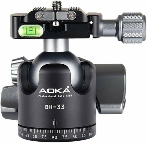 AOKA BH33 33mm Low Profile Ball Head Arca/RRS Compatible w Independent Pan Lock
