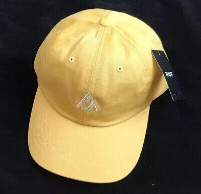 HUF Essentials TT CV Cap 6 Panel Yellow Hat BNWT