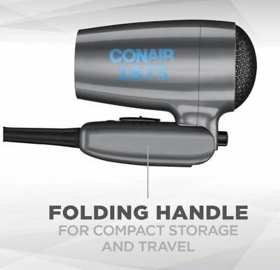 Conair 1875 Вт Складной компактный фен для волос Small Mini Travel Size Dual Vol