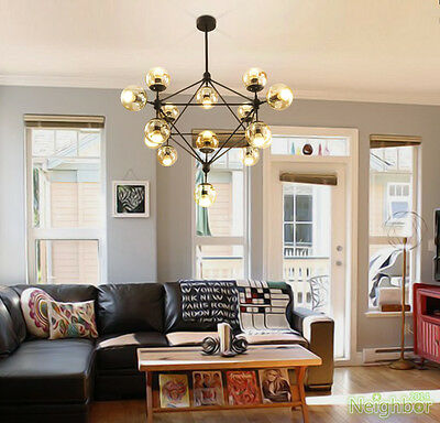 Industrial Pendant Lamp MODO Suspension LED Chandelier Glass Ball Ceiling lights