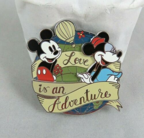 Disney WDW Pin - Love Is An Adventure 2017 - Logo - Mickey and Minnie Mouse