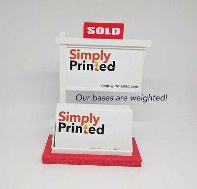 Real Estate Business Card Holder-business Card Displaybusiness Card Holder-red