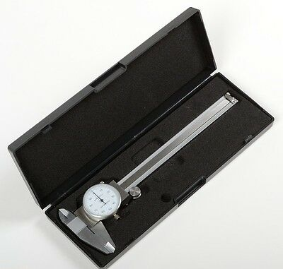 "Dial Caliper 6"" Micrometer Pro Precision Measurement Tools SAE 0.001 Shock Proof"