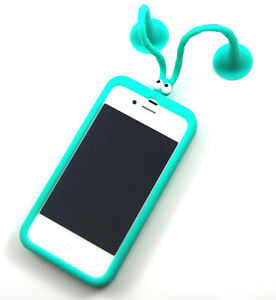Light-Blue-Cute-Soft-Silicone-Mr-Grasshopper-Case-Cover-for-iPhone-4-4G-4S-4GS