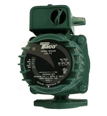 Taco 009-f5 Cast Iron 18 Hp High Velocity Circulator Pump