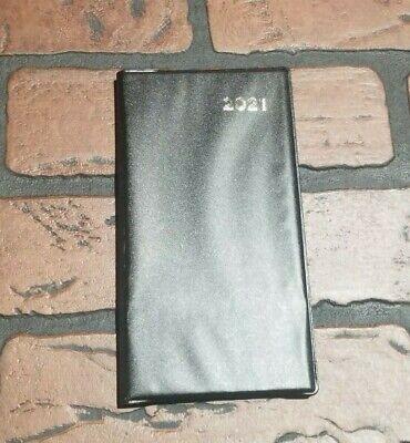 2021  Weekly Hardback Pocket Planner 3 14 X 6 14 Hardback Cover Black