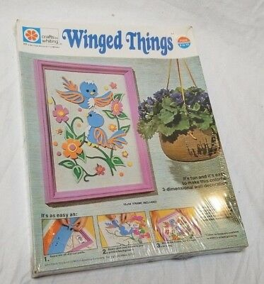 *SEALED-NEW* 1973 Winged Things 3 Dimensional Wall Decoration Kit-Birds Flowers
