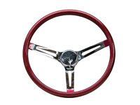 """Mooneyes White Vinyl Steering Wheel 13.5/"""" with holes in spokes Rat Fink rod Rat"""