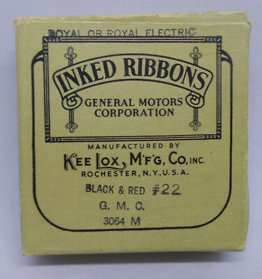 Inked Ribbons General Motors Kee Lox Royal Electric Typewriter Black Red 22