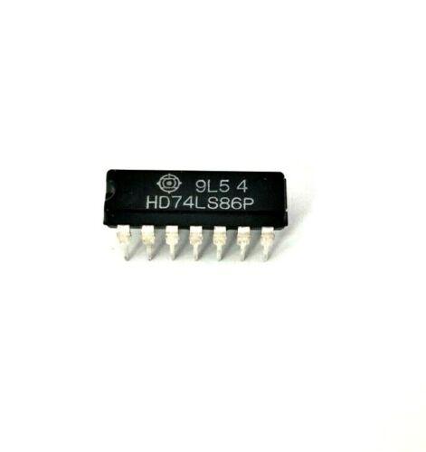 (2x) Hitachi 74LS86P - Quad 2−Input Exclusive−OR Gate TTL IC, NOS