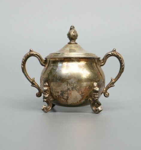 Vintage Sherman Silver on Copper Small Tea Pot