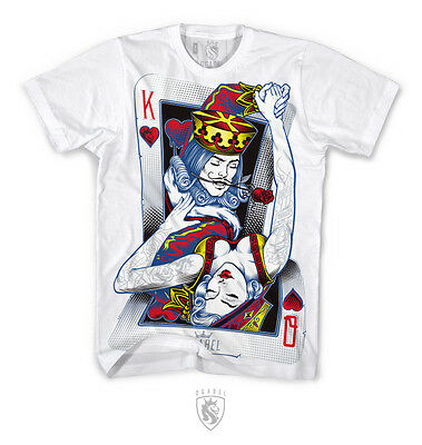 OGABEL OG ABEL CLOTHING DANCING CARDS KING QUEEN INK TATTOO WHITE TEE SHIRT (Dancing Queen T Shirt)