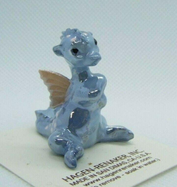 Hagen Renaker Dragon Blue Figurine Miniature New 892   Made in USA