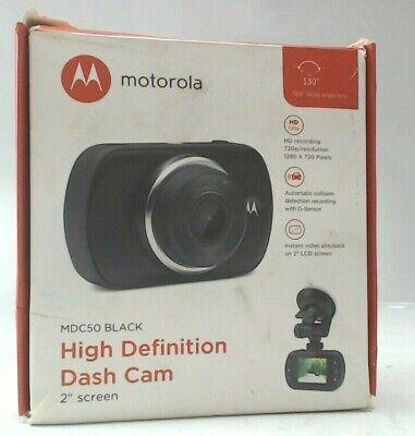 "Motorola MDC50 Black High Definition Dash Cam with 2"" Screen"