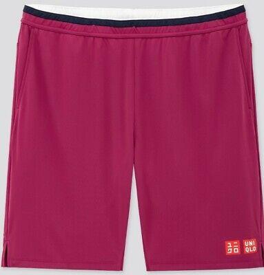 Roger Federer Uniqlo Tennis Purple Shorts Australian Open 2020 - XL - BRAND NEW