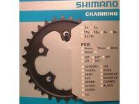 NEU SHIMANO 105 FC-5703 50-39-30 Zähne Kettenblatt Set schwarz Kurbel