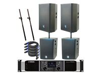 PA SYSTEM HIRE - SOUND - SPEAKERS - LOGIC - CELESTION - YAMAHA - AMPS - SUBS BASS PARTY - DJ DECKS