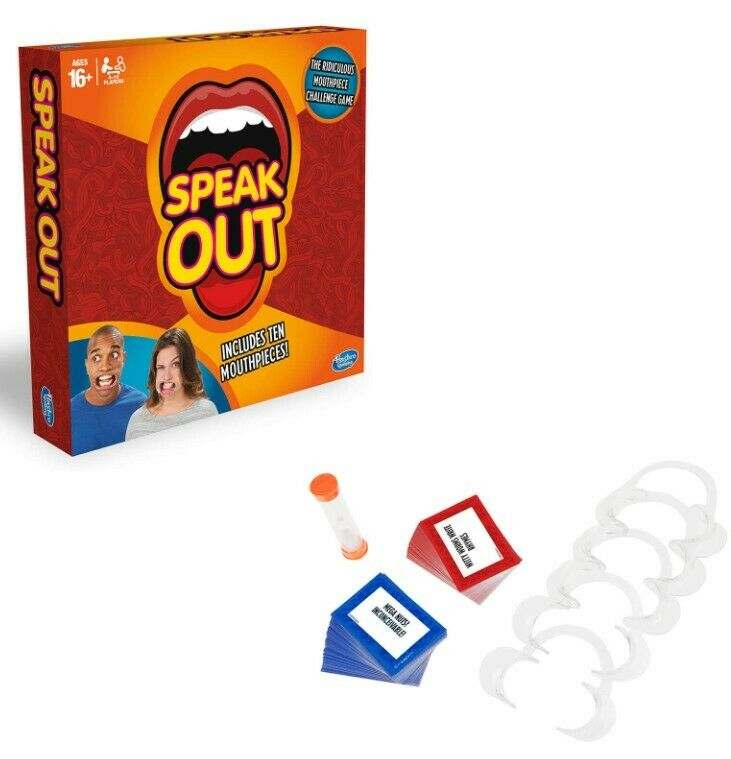 New Hasbro Gaming Speak Out Family Friends Fun Game